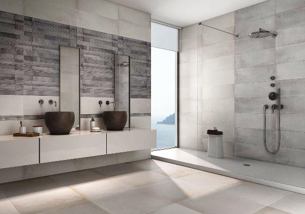 матовая плитка в ванной