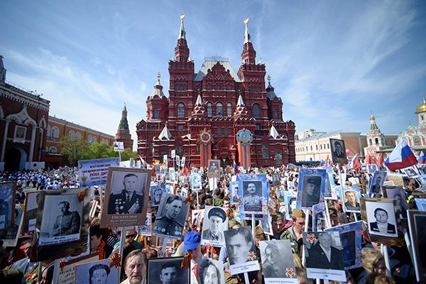Акция«Бессмертныйполк» в Москве