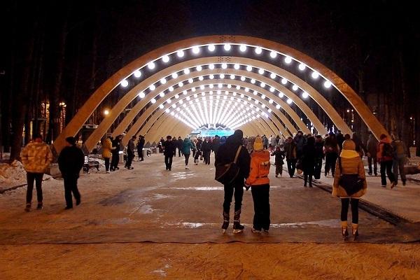 Парк Сокольники зимой