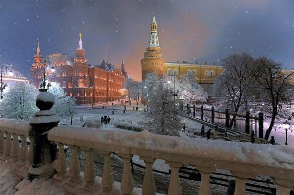 прогулки по заснеженной Москве