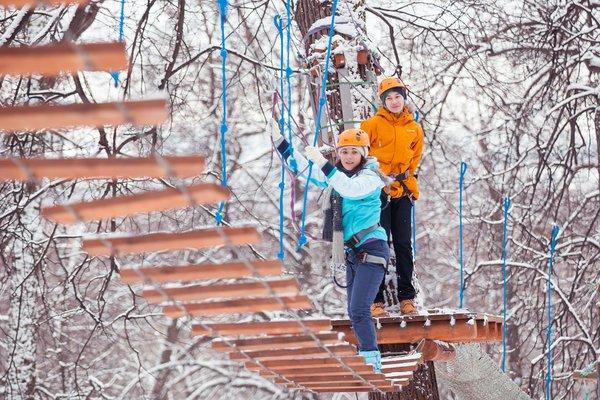 Филеевский парк в Москве зимой