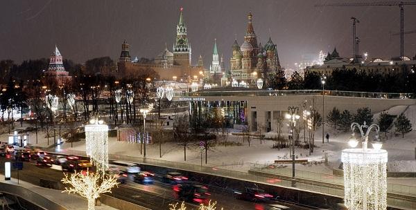 ночь в москве зимой