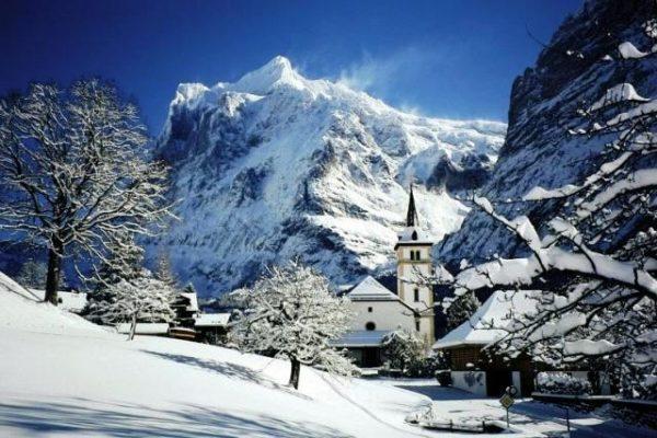 Горнолыжный курорт Гриндельвальд в Швейцарии