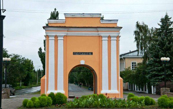 Тарские ворота - один из символов Омска