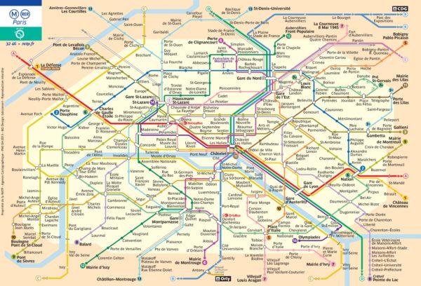 Схема метрополитена Парижа - скоро планируется открыть еще 4 линии