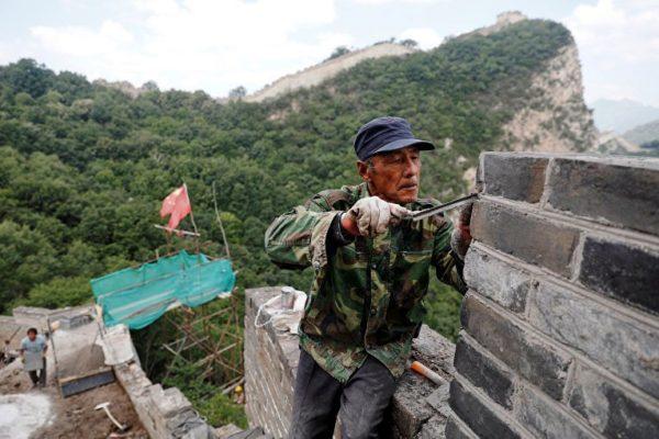 Восстановительные работы Великой Китайской стены