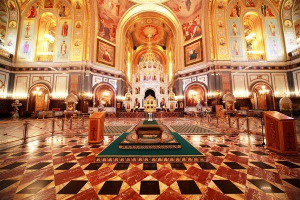 Храм Христа Спасителя изнутри