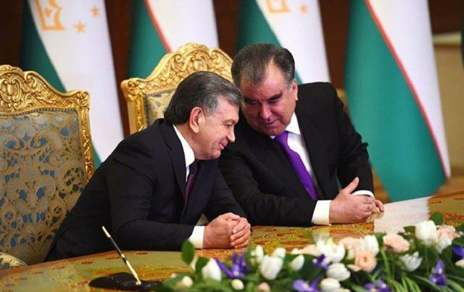 Главы Таджикистана и Узбекистана