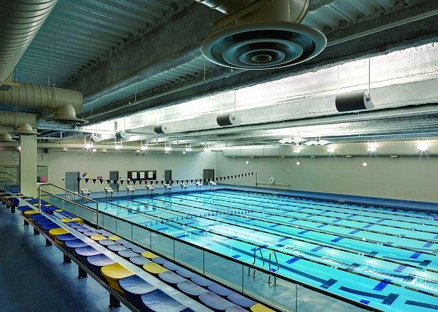 Вентиляция зала бассейнов