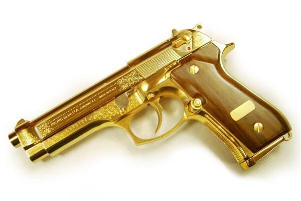 Подарочный золотой пистолет ТТ